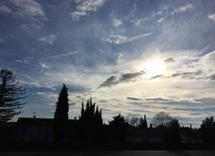 Ciel Mours-Saint-Eusebe 26540 Soleil voilé cette après-midi