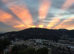 Ciel Nice 06000 Lever de soleil août 2016