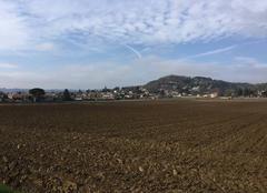 Ciel Mours-Saint-Eusebe 26540 Soleil voilé sur le village moursois