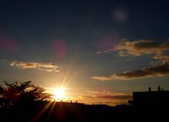 Ciel Niort 79000 Coucher de soleil de ce 17 février 2018
