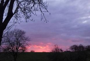 Ciel Caylus 82160 Soleil couchant dans la campagne