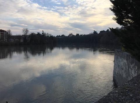 Fin d'après-midi sur les rives de l'Isère