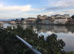 Ciel Romans-sur-Isere 26100 Fin d'après-midi sur les quais de l'Isère