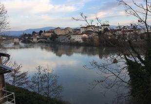 Ciel Romans-sur-Isere 26100 Les terrasses de l'Isère à l'heure du couchant