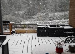 Neige Peypin 13124 Neige à Peypin, ce matin