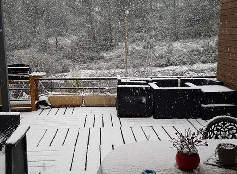 Neige à Peypin, ce matin