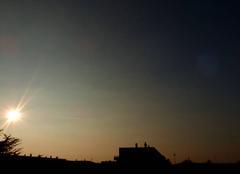 Ciel Niort 79000 Coucher de soleil de ce 21 février 2018