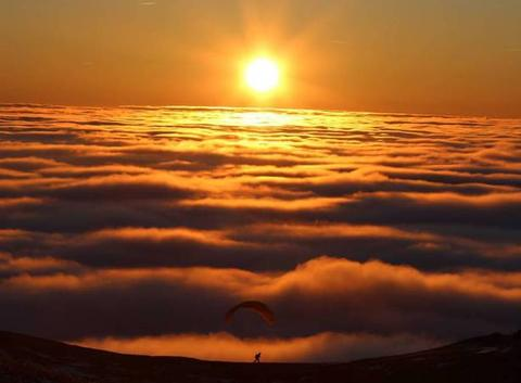 Coucher de nuages