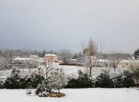 Le Var sous la neige