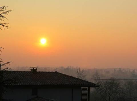 Ciel de ce Samedi 24 Février 2018 à 08 h 13 à St Lézer.