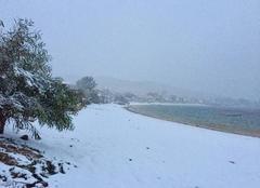 Neige Serra-di-Ferro 20140 La plage sous la neige