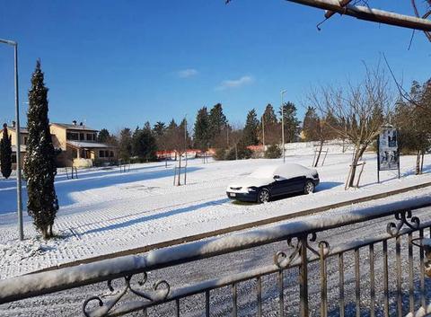 Sienne sous la neige exceptionnel!