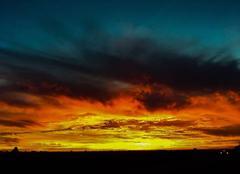Ciel La Chapelle-Basse-Mer 44450 Couché de soleil vue sur nantes