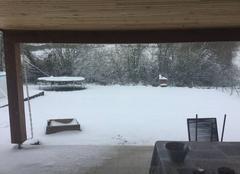 Neige Hagetmau 40700 Hagetmau sous la neige