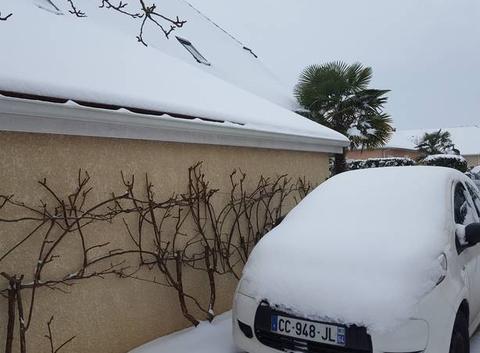 Neige sur Lescar