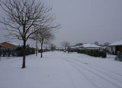 Neige Hinx 40180 Hinx couvert de neige