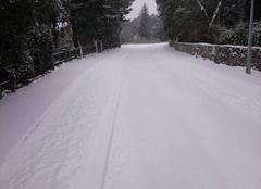 Neige Mejannes-le-Clap 30430 Beaucoup de neige aujourd'hui sur mejannes le clap