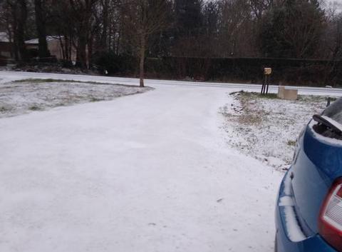 Neige à Salignac sur Charente