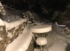 Neige Sainte-Croix-à-Lauze 04110 Un superbe manteau blanc à 640m d?altitude