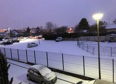 Neige Troyes 10000 Neige à Troyes ce matin