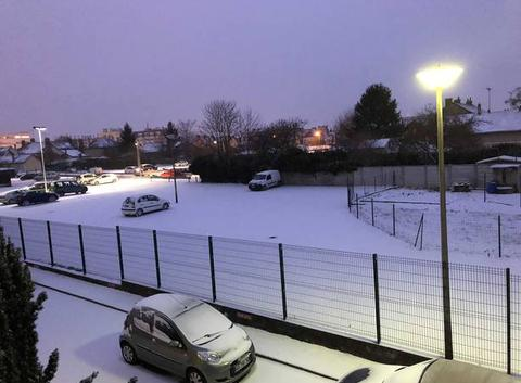 Neige à Troyes ce matin