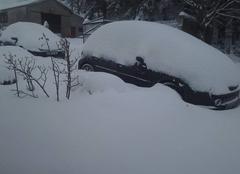 Neige Villefort 48800  neige à villefort 7h30