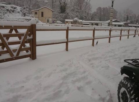 Sospel débordé par la neige