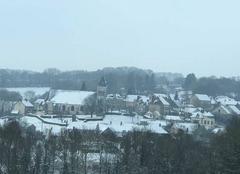 Neige Saint-Aubin-Château-Neuf 89110 Froid hiver