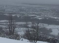 Neige Mirabel 07170 Paysage enneigé à Mirabel