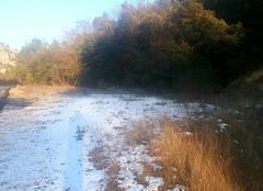 Neige Jouques 13490 Un peu de Neige sur la route de jouques