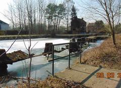 Froid Seneffe Gel sur le vieux canal