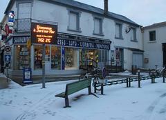 Neige Jard-sur-Mer 85520 Un peu de neige au centre ville.