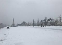 Neige Landerneau 29800 Jeudi neigeux dans le Finistère