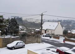 Neige Morlaix 29600 Neige sur morlaix avec une petite pluie