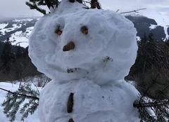 Insolite Les Gets 74260 Bonhomme de neige
