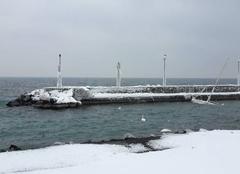 Froid Evian-les-Bains 74500 Amphion les bains sous la glace