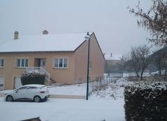 Neige Folschviller 57730 Neige en Moselle cette après-midi