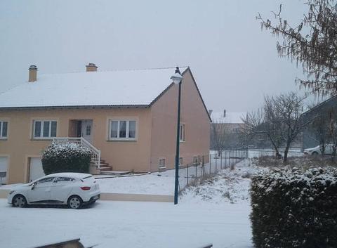 Neige en Moselle cette après-midi