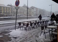 Neige Sète 34200 Sete  sous la neige