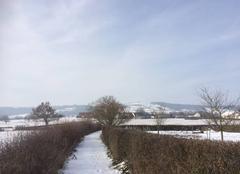 Neige Marcilly-les-Buxy 71390 Jour de neige col des baudots