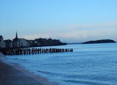 Mer Saint-Malo 35400 Marée haute à St Malo ce matin