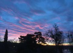 Ciel Chinon 37500 Levée du soleil