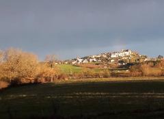 Ciel Monflanquin 47150 Levé du soleil sur le village