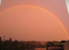 Ciel Villemoustaussou 11620 Double arc en ciel