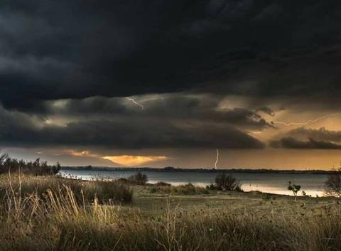 1er orage de la saison hier
