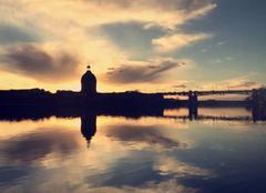 Ciel Toulouse 31000 Coucher de soleil sur la Garonne