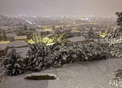 Neige Ales 30100  nuit d'hiver  Février 2018
