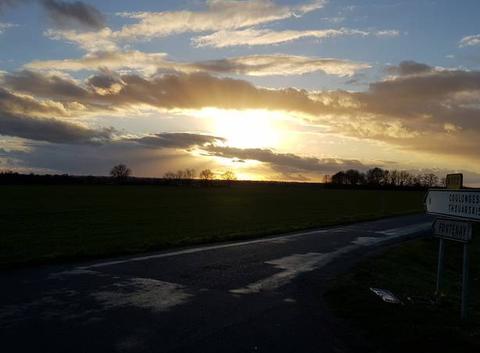 Soleil  entre les nuage