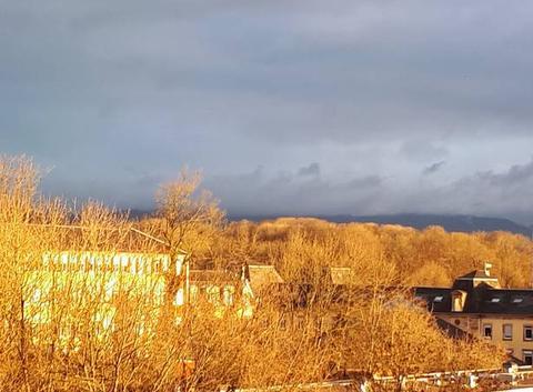 Soleil et  nuages sur Belfort