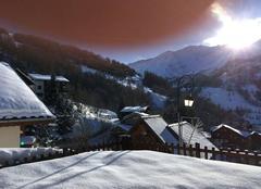 Ciel Valloire 73450 Sous la neige